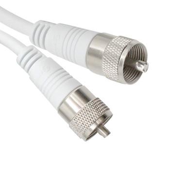 6ft UHF-UHF Mini-RG8x Cable White