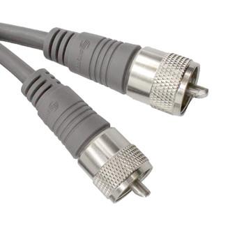 20ft UHF-UHF Mini-RG8x Cable Gray