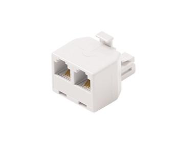 Modular 4C Telephone T-Adapter White