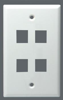 Wallplate Keystone 4 Port Universal