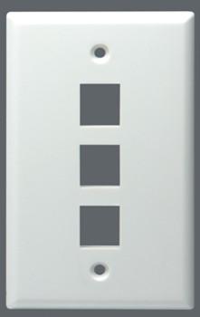 Wallplate Keystone Midi 3 Port