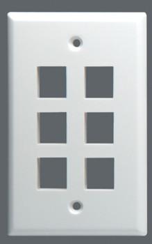 Wallplate Keystone Midi 6 Port