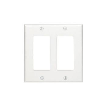 Wallplate Decor 2-Gang White