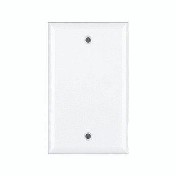 Wallplate Blank Mid-Size Wh