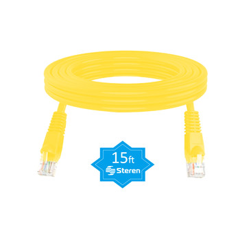 15ft Cat6 Patch Cord Non-Booted UTP cULus Yellow