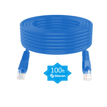 100ft Cat5e Patch Cord Snagless UTP Molded CCA Blue