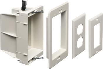 Recessed Electrical Outlet Mounting Box, Single Gang