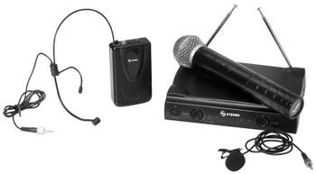 Wireless VHF Headset Microphone System
