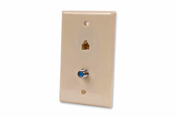 Steren Wall Plate;4CF81 and RJ112.3GHz IV
