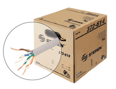 BASELINE - 1000ft 23/4 CAT6 UTP cULus CM Solid Cable - Reel-In-Box - White