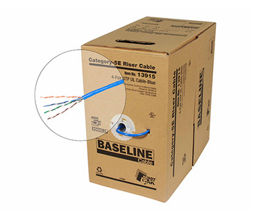 BASELINE - 1000ft 24/4 CAT5E UTP cULus CMR Solid Cable - Pull-Box - Yellow