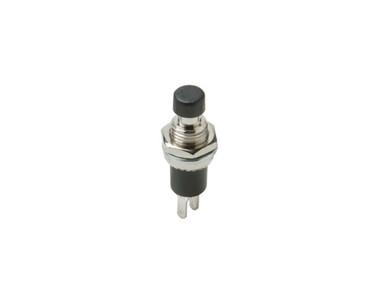 Mini-Pushbutton Black SPST N/O