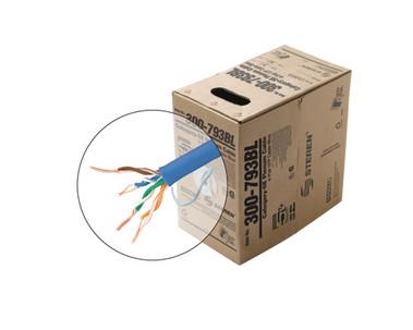 1000ft 24/4 CAT5E UTP ETL CMP Solid Cable - Pull-Box - Blue