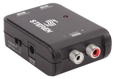 Steren Digital Coax & Optical Toslink to Analog Audio Converter