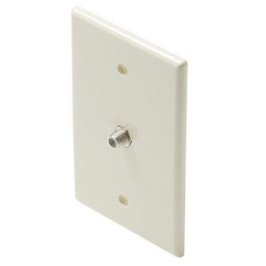 Steren Mid-Sized TV Wall Plate Ivory