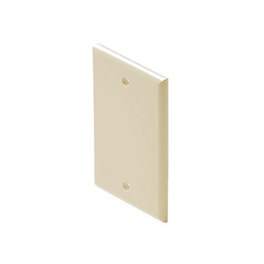 Steren Mid-Sized Blank Wall Plate Ivory