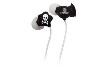 Steren Earbuds with Skull Design