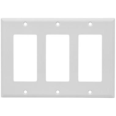 Wallplate Decor 3-Gang White