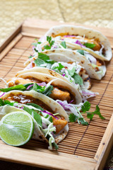 RECIPE: Tempura Fish Tacos with Coconut Chilli, Cabbage, Mint and Cilantro