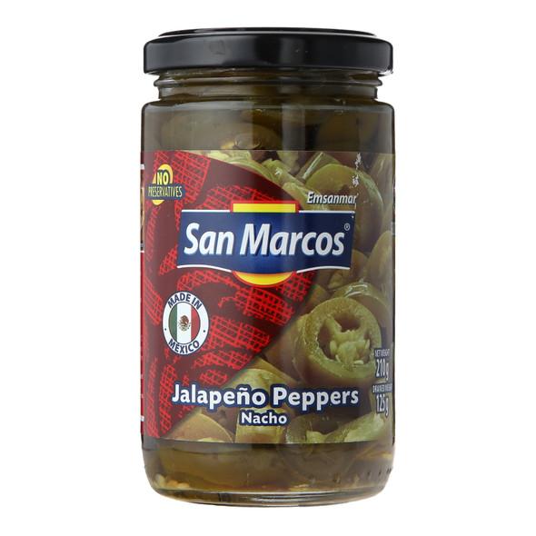 San Marcos Nacho Sliced Jalapenos, 210g