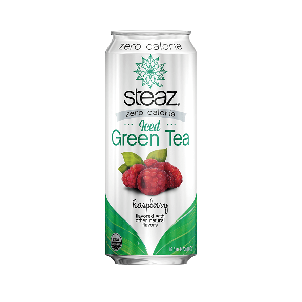 Steaz Organic Zero Calorie Iced Green Tea, Raspberry, 473ml