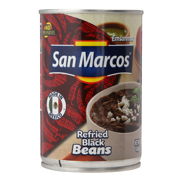 San Marcos Refried Black Beans, 430g