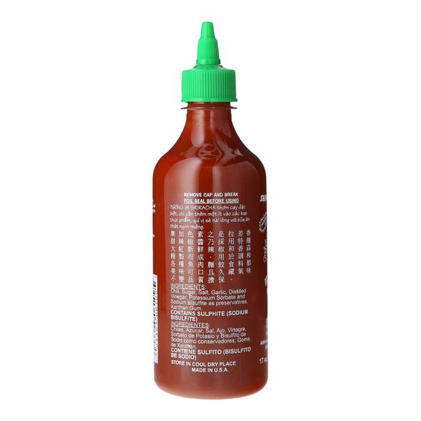 Huy Fong Sriracha Hot Chilli Sauce, 17oz (481g)