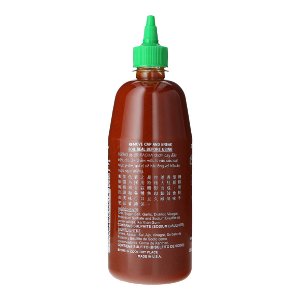 Huy Fong Sriracha Hot Chilli Sauce, 28oz (793g)