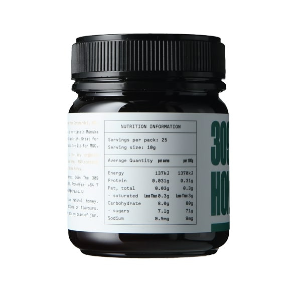 309 Honey Mono-Floral Manuka 100 MGO, 250gm