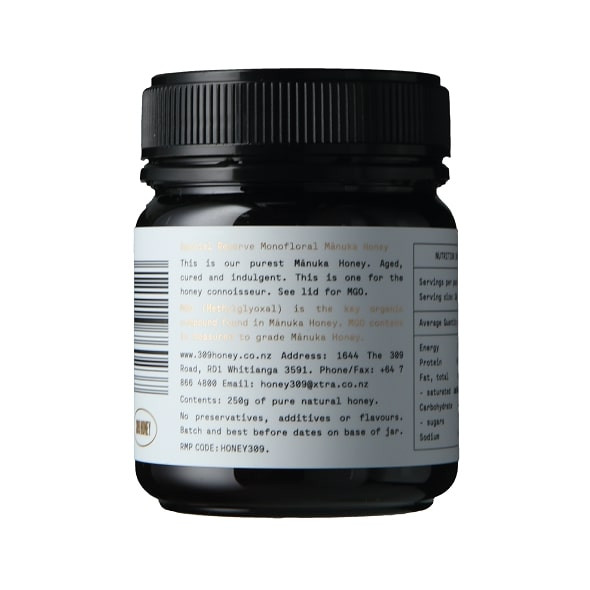 309 Honey Special Reserve Manuka 500 MGO, 250gm