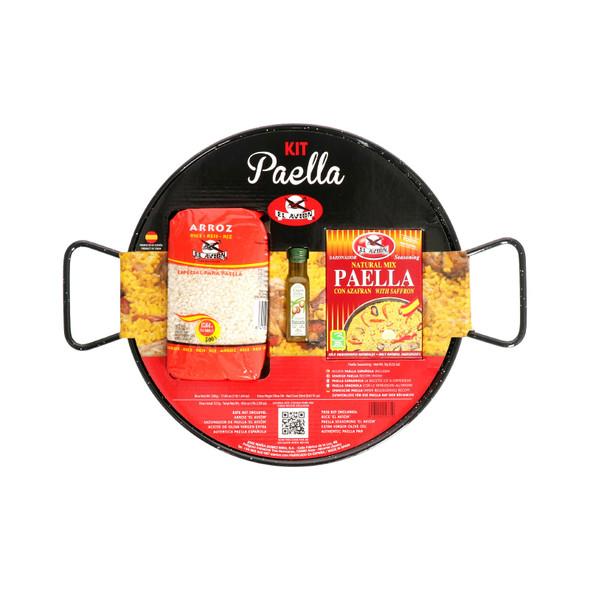 El Avion Paella Kit With Enamel Pan (Serves 4)