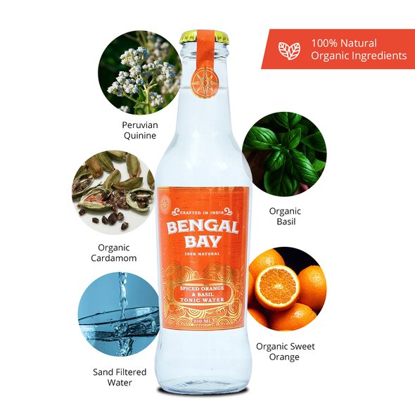 Bengal Bay Spiced Orange & Basil Tonic Water, 250ml