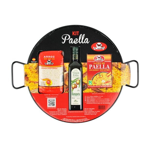 El Avion Paella Kit With Enamel Pan (Serves 6)