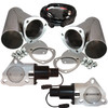 """QTP QTEC60CP 3"""" Electric Exhaust Cutout 3-Bolt Flange With Stainless Y-Pipes"""