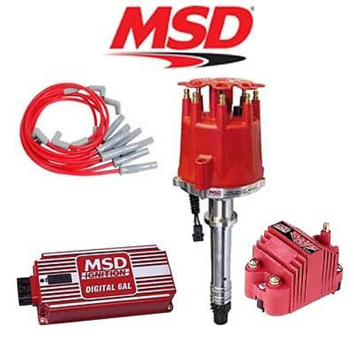 MSD 9101 Complete Ignition Kit - Digital 6AL/Distributor/Wires/Coil BBC Chevy