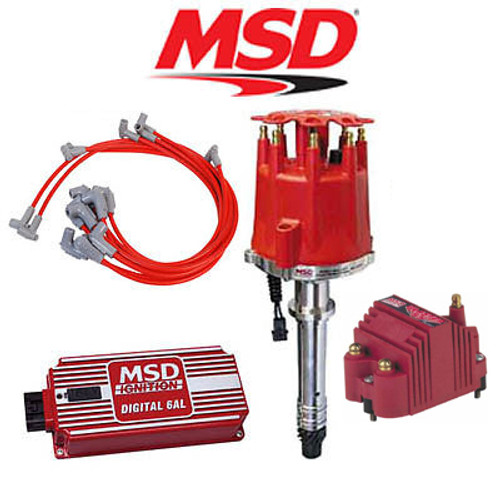MSD 9100 Complete Ignition Kit - Digital 6AL/Distributor/Wires/Coil SBC Chevy