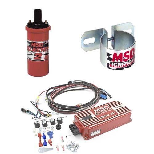 MSD 9951 Ignition Kit - Digital 6AL Box/Blaster 2 Coil/Universal Coil Bracket