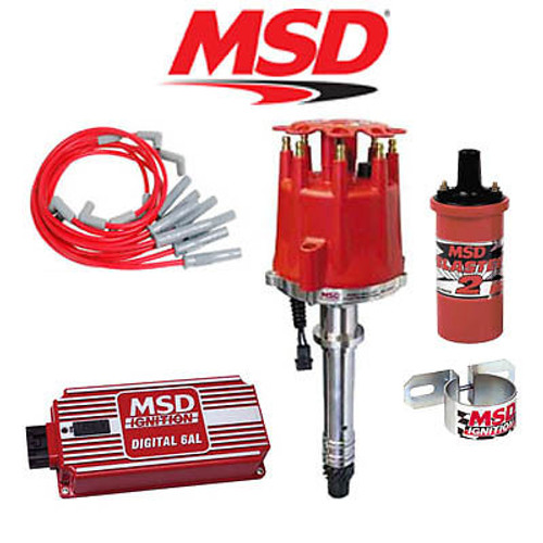 MSD 9001 Complete Ignition Kit - Digital 6AL/Distributor/Wires/Coil/Bracket BBC