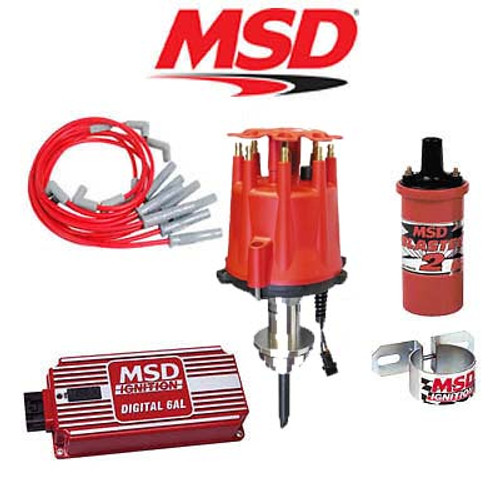 MSD Ignition Kit - Digital 6AL/Distributor/Wires/Coil/Bracket - Chrysler 318-360