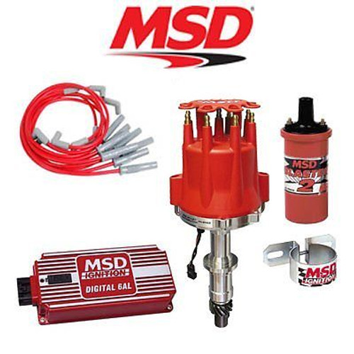 MSD 9006 Ignition Kit - Digital 6AL/Distributor/Wires/Coil/Bracket - Pontiac V8