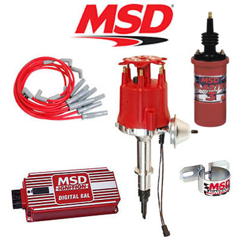 MSD 9009 Ignition Kit - Digital 6AL/Distributor/Wires/Coil Jeep 4.2L Inline 6