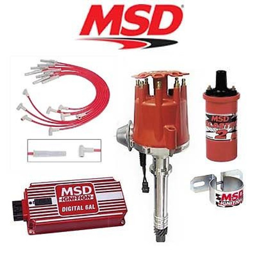 MSD 9011 Ignition Kit - Digital 6AL/Distributor/Wires/Coil/ - BBC Vacuum Advance