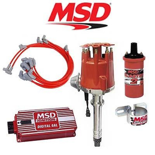 MSD 9010 Ignition Kit - Digital 6AL/Distributor/Wires/Coil/ - SBC Vacuum Advance
