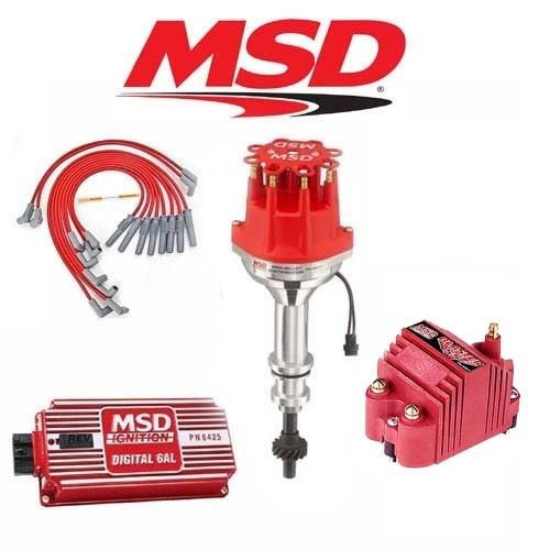 MSD 9125 Ignition Kit Digital 6AL/Distributor/Wires/Coil Ford FE 360/390/427/428