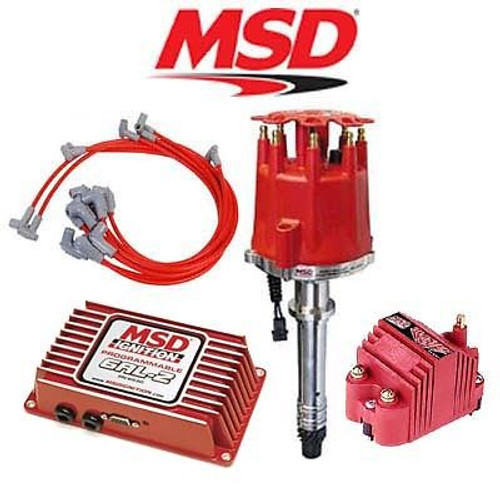 MSD Ignition Kit - Programmable 6AL-2/Distributor/Wires/Coil Chevy Small Block