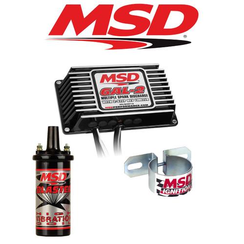 MSD 99523 Black  Ignition Kit - 64213 Digital 6AL-2 Ignition Box/Coil & Bracket