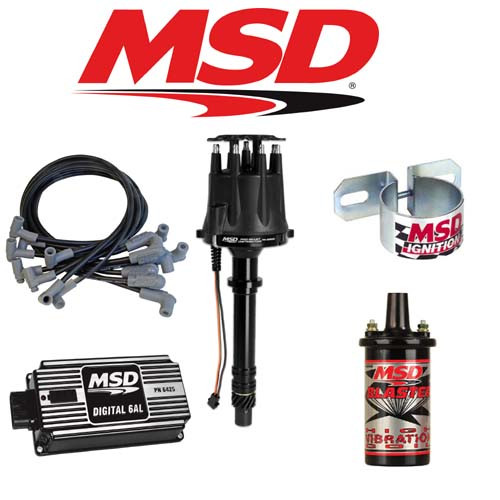 MSD 90003 BLACK Ignition Kit - Digital 6AL/Distributor/Wires/Coil/Bracket SBC