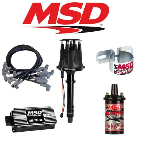 MSD 900013 BLACK Ignition Kit - Digital 6A/Distributor/Wires/Coil/Bracket SBC