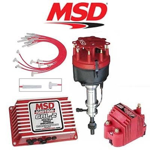 MSD 9165 Ignition Kit - Digital 6AL-2/Distributor/Wires/Blaster Coil - Ford 351W