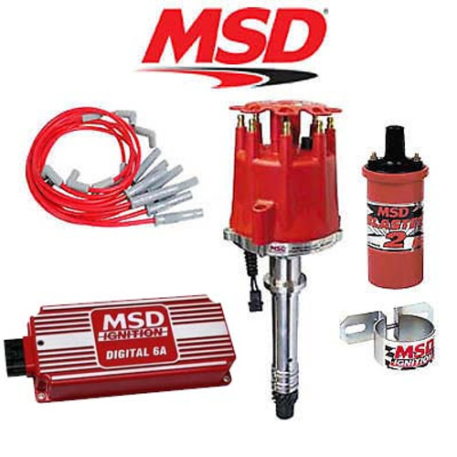 MSD 90011 Complete Ignition Kit - Digital 6A/Distributor/Wires/Coil/Bracket BBC